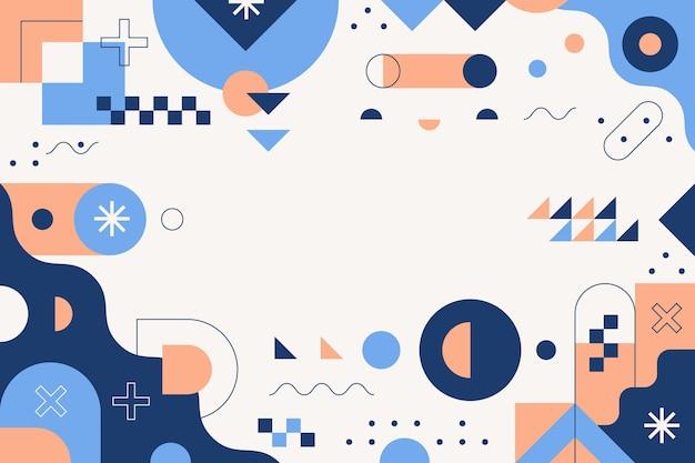 Fondo abstracto plano geométrico