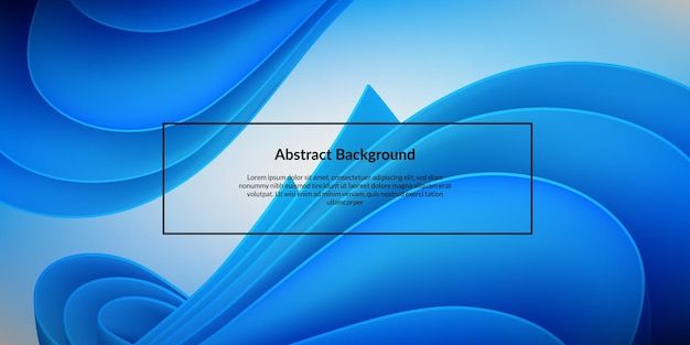 Fondo abstracto de la pluma de papel azul 3d doble. actualización moderna onda vibrante futurista