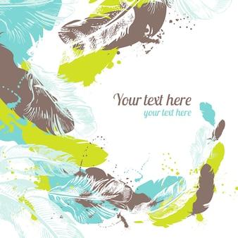 Fondo abstracto de plumas