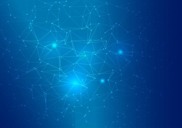 Fondo abstracto bajo poli conexiones