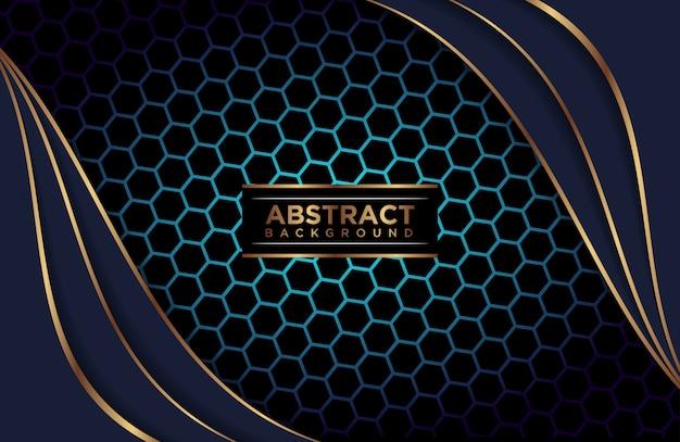 Fondo abstracto poligonal azul capas