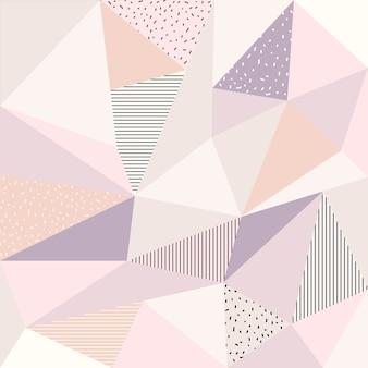 Fondo abstracto poligonal con color suave
