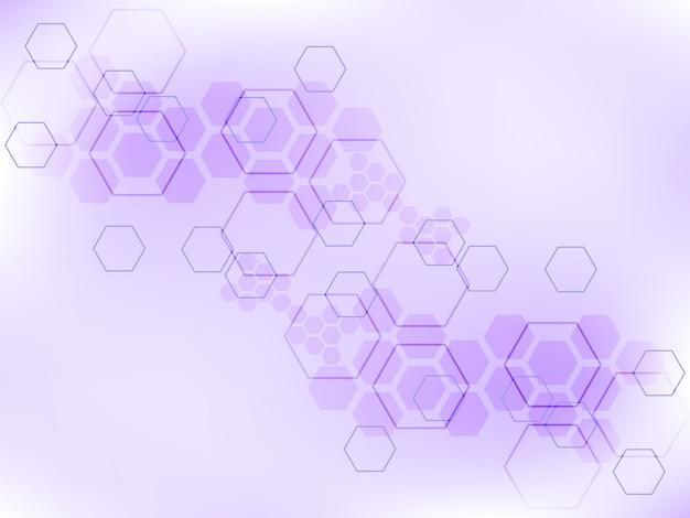 Fondo abstracto poligonal de tecnología.