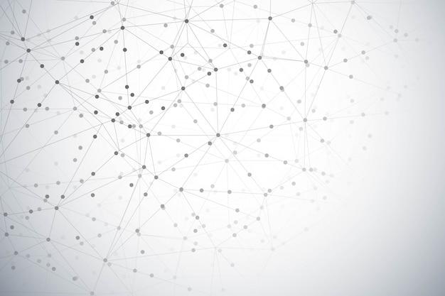 Fondo abstracto polígono de tecnología digital
