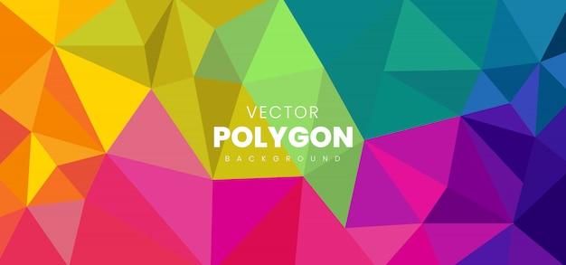 Fondo abstracto del polígono