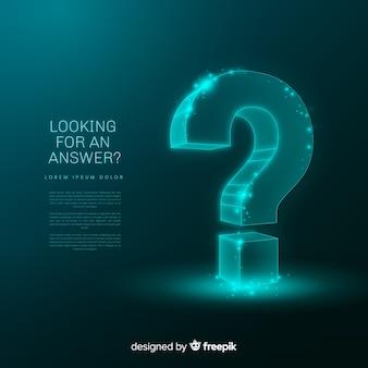 Fondo abstracto pregunta digital