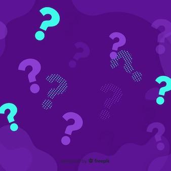Fondo abstracto de preguntas