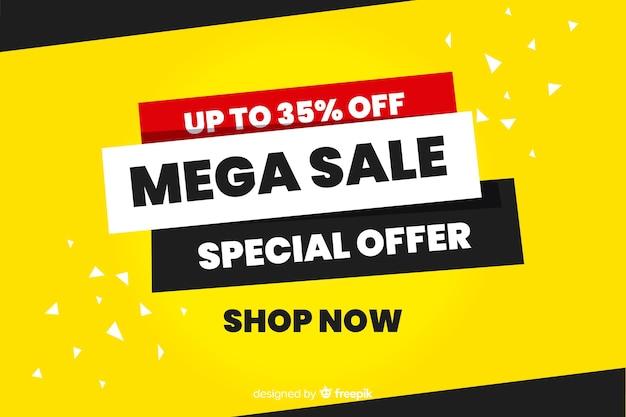 Fondo abstracto de la promoción de ventas estilo plano
