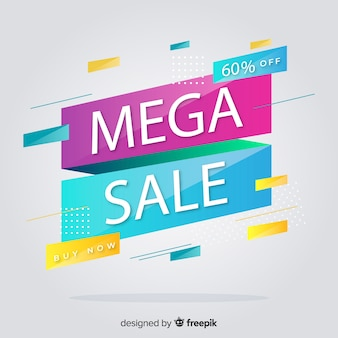 Fondo abstracto de promoción de ventas