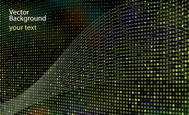 Fondo abstracto punteado para presentaciones e informes de diseño