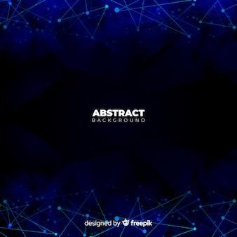 Fondo abstracto con puntos conectrados
