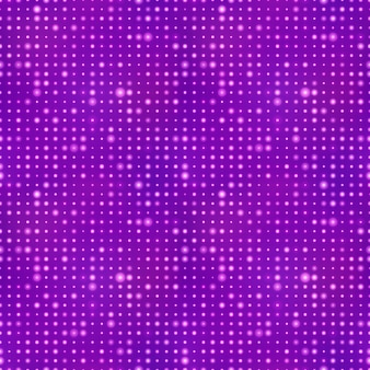 Fondo abstracto con puntos de luz en púrpura, patrones sin fisuras
