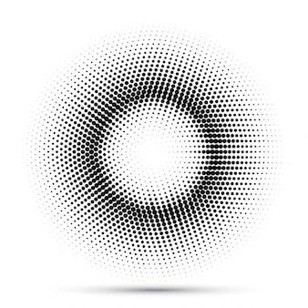Fondo abstracto con puntos que componen un círculo