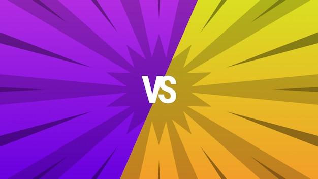 Fondo abstracto púrpura y amarillo versus