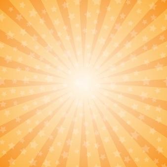 Fondo abstracto de rayos con estrellas