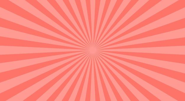 Fondo abstracto de rayos de sol rosa. ilustración.