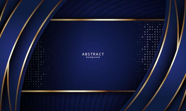 Fondo abstracto realista con color dorado y azul