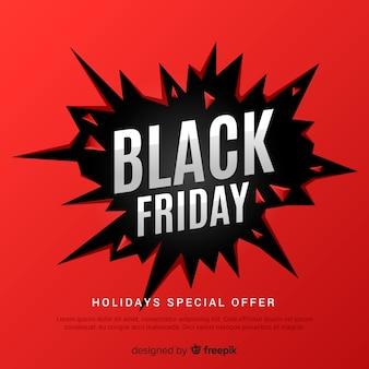 Fondo abstracto de rebajas de black friday en rojo y negro
