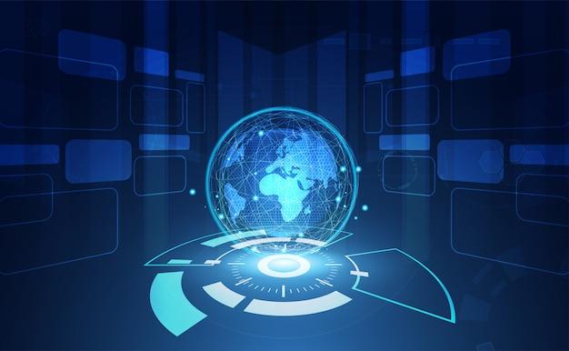 Fondo abstracto de red global