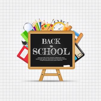 Fondo abstracto de regreso a la escuela. illustratio