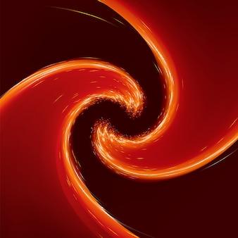 Fondo abstracto resplandor twist con flujo dorado. archivo incluido
