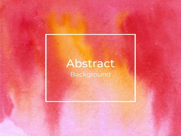 Fondo abstracto rojo y amarillo de la textura de la acuarela