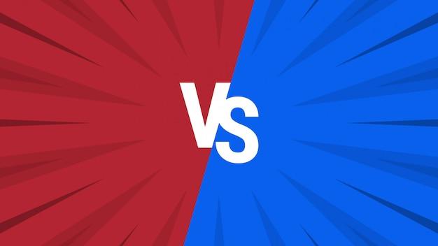 Fondo abstracto rojo y azul versus