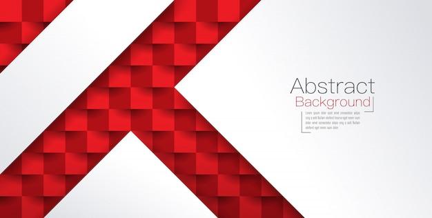 Fondo abstracto rojo y blanco