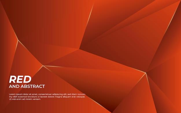 Fondo abstracto rojo y brillante