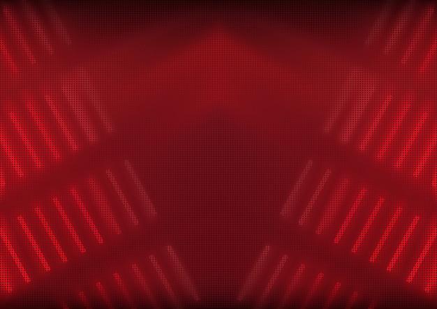 Fondo abstracto rojo con efectos de luz