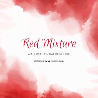 Fondo abstracto rojo en estilo acuarela