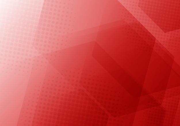 Fondo abstracto rojo hexágonos geométricos