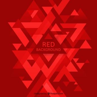 Fondo abstracto rojo con triángulos