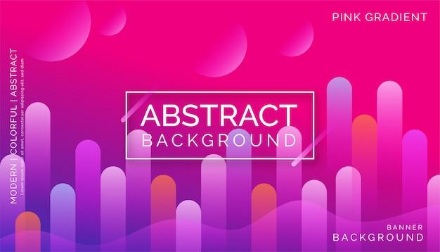 Fondo abstracto rosa, diseño dinámico colorido moderno