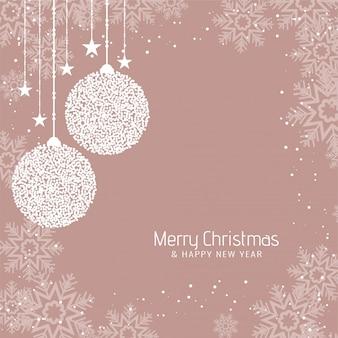 Fondo abstracto de saludo de feliz navidad