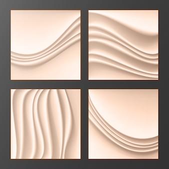 Fondo abstracto de seda ondulado