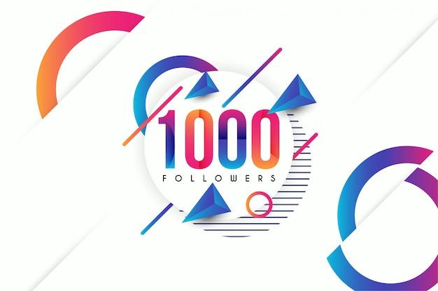 Fondo abstracto de seguidores