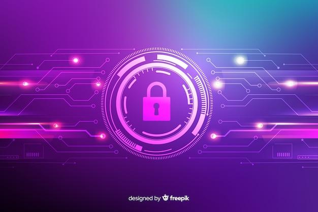 Fondo abstracto seguro de tecnología