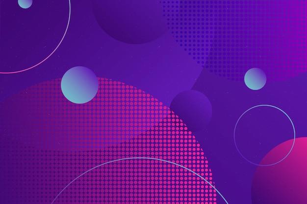 Fondo abstracto de semitono con círculos
