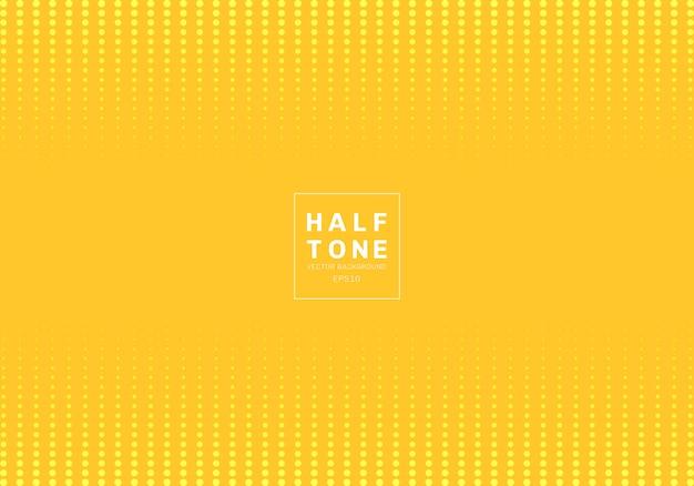 Fondo abstracto de semitono diseño punto amarillo