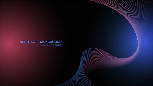 Fondo abstracto simple, fondo oscuro de onda azul transparente.