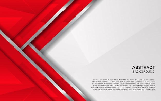 Fondo abstracto de superposición roja y blanca