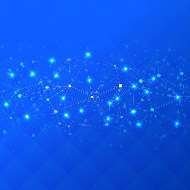 Fondo abstracto techno azul