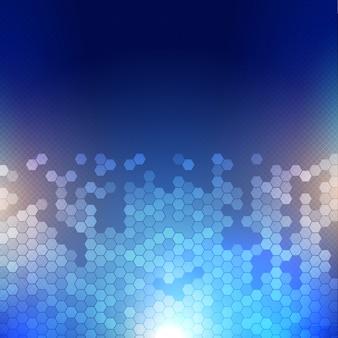 Fondo abstracto techno con un diseño moderno hexágono