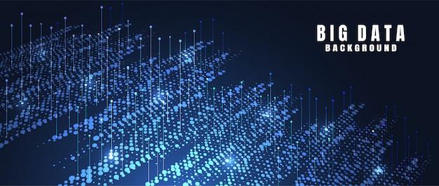 Fondo abstracto de la tecnología con datos grandes. conexión a internet
