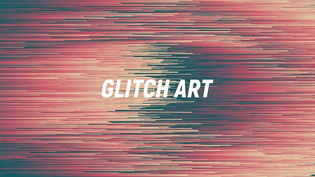 Fondo abstracto de tecnología digital glitch art