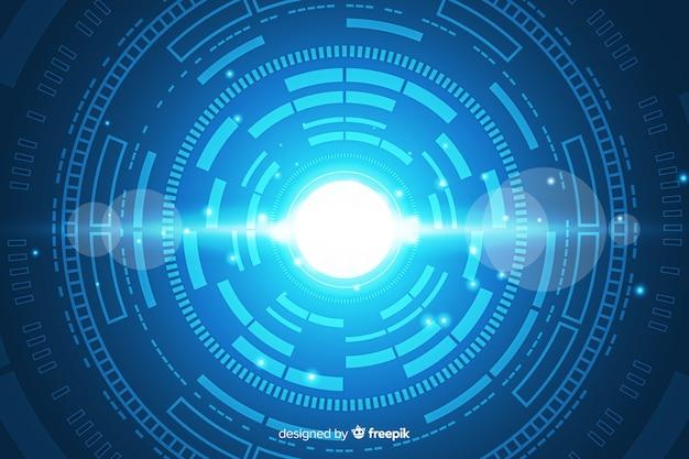 Fondo abstracto de tecnología digital hud