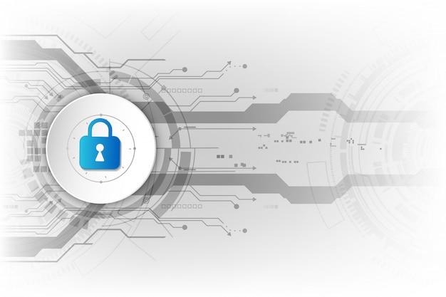 Fondo abstracto de la tecnología digital de la seguridad.