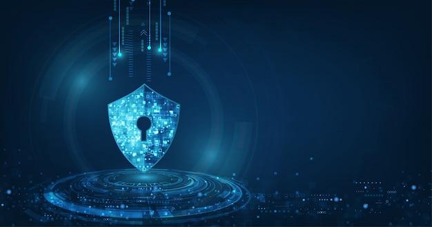 Fondo abstracto de tecnología digital de seguridad
