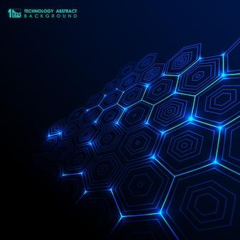 Fondo abstracto tecnología futurista.